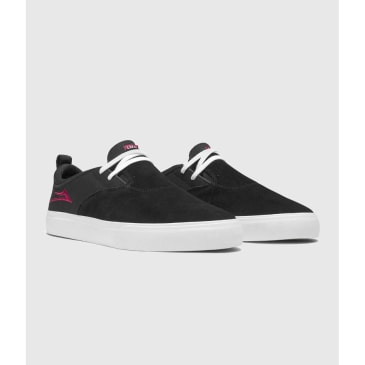 Lakai Riley 2 Skate Shoes Black Suede