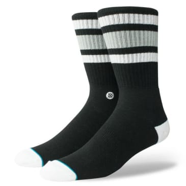Stance Boyd 4 Crew Socks (Black/White/Grey)