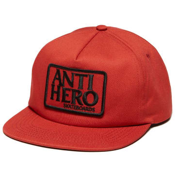 Anti Hero Reserve Patch Snapback Hat Red