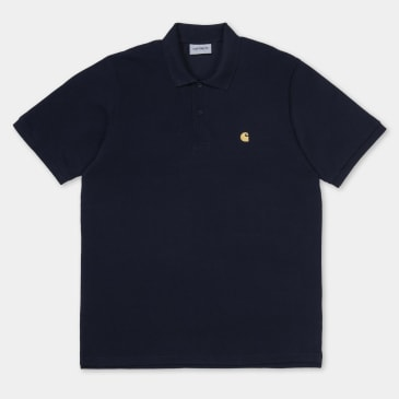 Carhartt WIP Chase Pique Polo Shirt Dark Navy