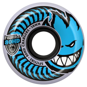 Spitfire Charger 56mm 80HD Conical Wheels (Clear)