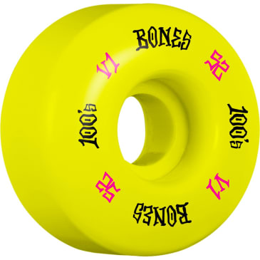 BONES 52mm 100's Wheels Yellow