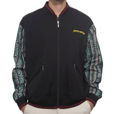 Pattern Sleeve Track Jacket