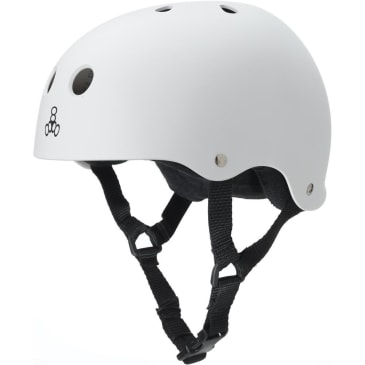 Triple Eight Sweatsaver Helmet (White Rubber)