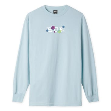 HUF Psycho Daisies Longsleeve T-Shirt - Light Blue