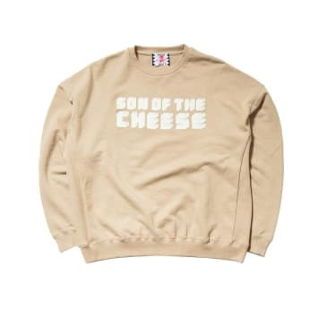 Son Of The Cheese Brick Logo Crew - Beige