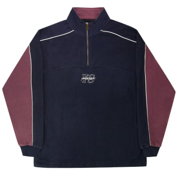 Yardsale Pipeline Quarterzip - Navy / Lilac