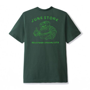 """June - """"Hole Food Specialists"""" Mens Tee - Green, Green"""