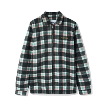 Butter Goods - Flannel Plaid Overshirt - Pink / Sage / Black