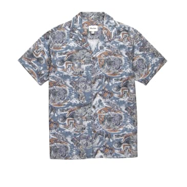 Rhythm Sumatra Shirt - Pacific Blue