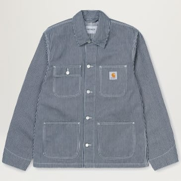 Carhartt WIP Michigan Coat (Blue Hickory Rinsed)