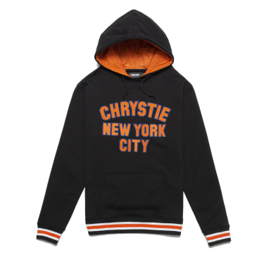 Chrystie NYC - Varsity logo pullover sweater_Black
