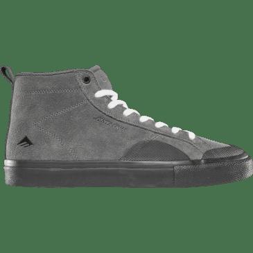 Emerica Omen Hi x Santa Cruz Skate Shoe - Grey / Black