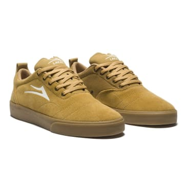 Lakai Bristol Suede Skate Shoes - Gold / Gum