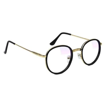 Glassy Lincoln Premium Gaming Glasses - Black / Gold