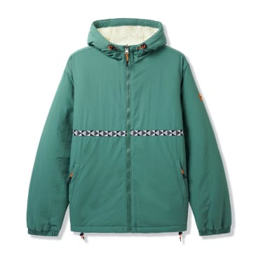 Butter Goods Base Camp Reversible Sherpa Jacket - Sage / Natural