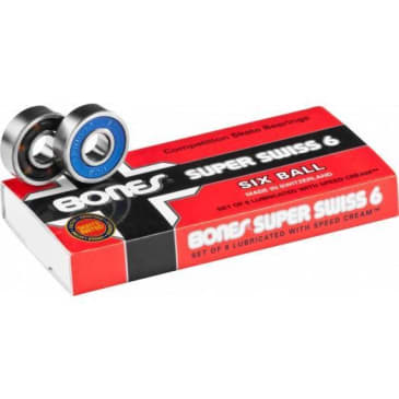 Bones Super Swiss 6 Ball Skateboard Bearings 8 Pack