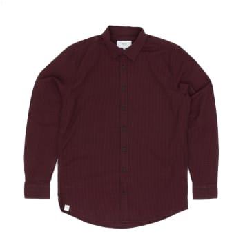 Makia Manor Long Sleeved Shirt - Dark Red