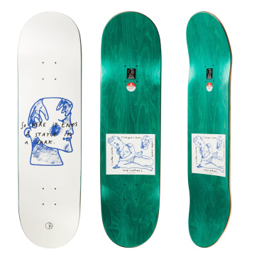 Polar Skate Co I Prefer Marble White Skateboard Deck - 8.25""
