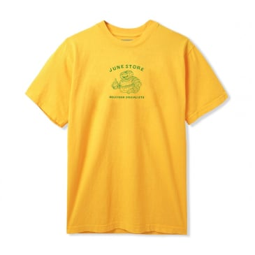 June - Hole Food Specialist Mens Tee - Yellow, Green