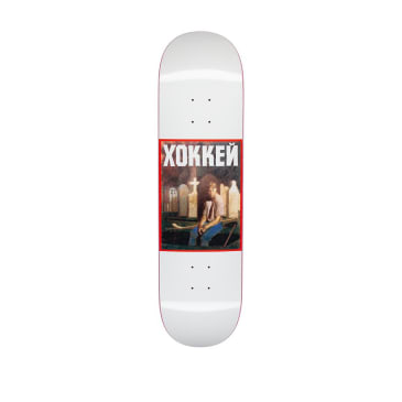 Hockey Nik Stain Satin White Skateboard Deck - 8.25""