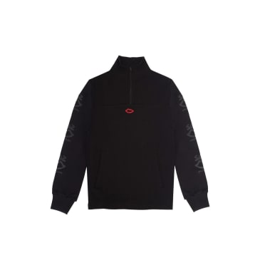 Sex Skateboards Scattered Sleeve Print Quarter Zip - Black