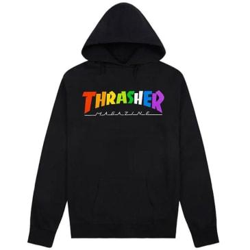 Thrasher Rainbow Mag Logo Hoodie - Black