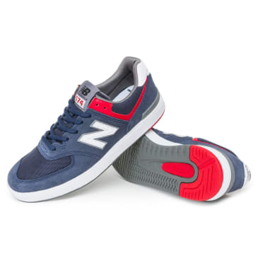 New Balance AM574 Shoes - Navy/White