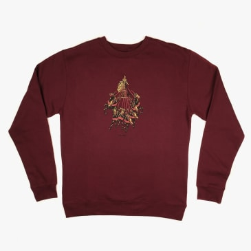 Pass~Port State Horses Sweater - Burgundy