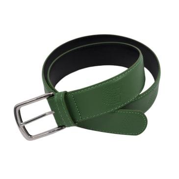 Bronze 56k - B Logo Embossed Leather Belt - Green