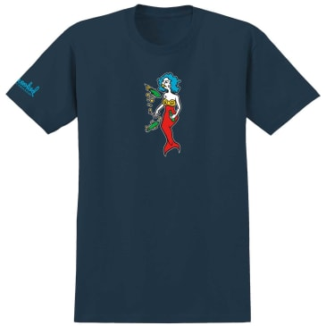 Krooked Skateboards Mermaid T-Shirt - Harbour Blue
