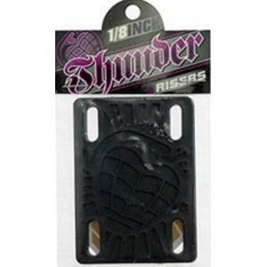 """Thunder Trucks Skateboard Riser Pads 1/8"""" - Black"""