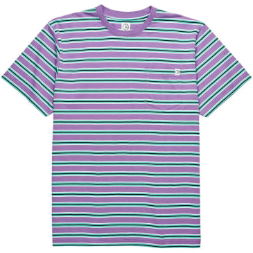 Polar Striped Pocket Tee - Violet/Mint