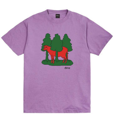 Dime Forest Cow T-Shirt - Lavender