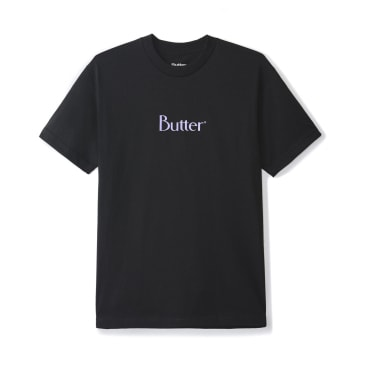 Butter Goods Classic Logo T-Shirt - Black / Purple