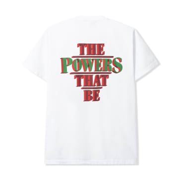 Powers The Powers That Be T-Shirt - White