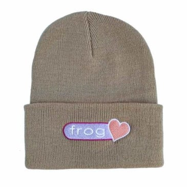 Frog Skateboards Perfect Heart Beanie - Oatmeal