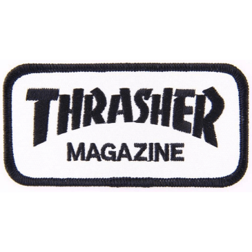 Thrasher - Magazine Logo Patch - White / Black