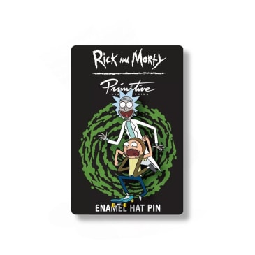 Primitive x Rick and Morty Skate Enamel Pin