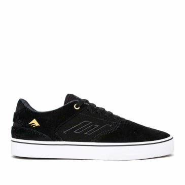 Emerica The Low Vulc Skate Shoes - Black / White / Gold