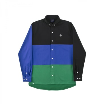 Helas Regalia Longsleeve Shirt - Black/Blue/Green