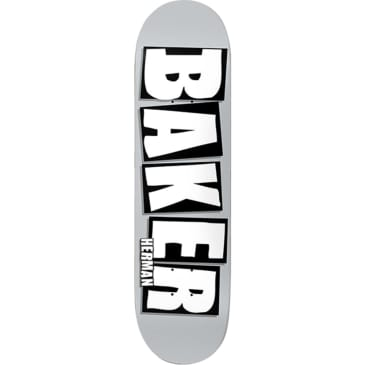 Baker Skateboards Bryan Herman Brand Logo Deck 8.5 - Grey/White