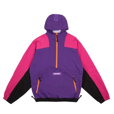 Dime Pullover Hooded Shell Jacket Purple