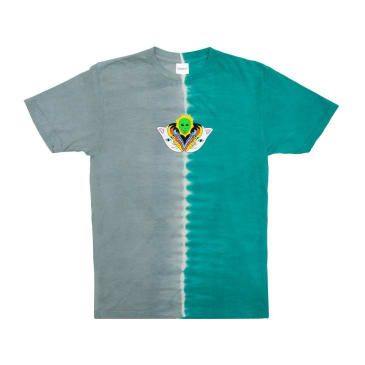 Rip N Dip Splitting Heads T-Shirt - Teal & Grey Split Dye