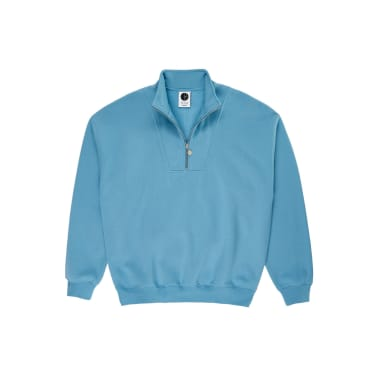 Polar Skate Co Zip Neck Sweatshirt - Blue