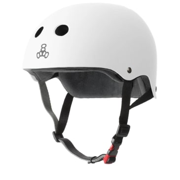 Triple Eight Certified Sweatsaver Helmet (White Rubber)