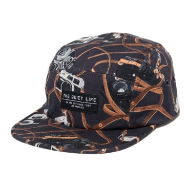 The Quiet Life - Camerea Strap 5-Panel Cap - Black