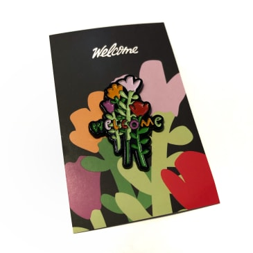 Welcome Skate Store - Rose Enamel Pin Badge - Multi
