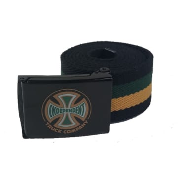 Independent Truck Co. Spectrum Clip Web Belt Black/Yellow/Green