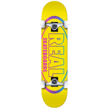 "Real Skateboards - 8.25"" Oval Gleams Complete - Yellow"